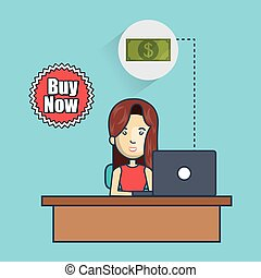 avatar woman with money design - avatar woman working on...