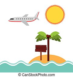 beach landscape vacations icons vector illustration design