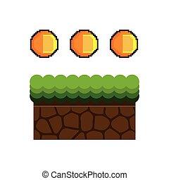 ground mud block pixel - Texture for platformers pixel art...