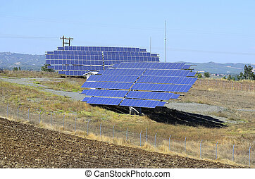Greece, solar collectors near Grevena