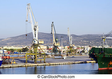 Greece, Industry - Greece, wharf in Volos