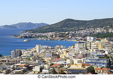 Greece, Kavala, view to east suburban