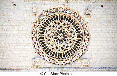 assisi - detail of assisi in italy