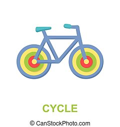 Bicycle cartoon icon. Illustration for web and mobile design.