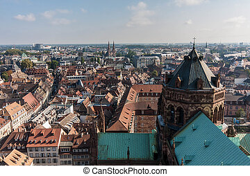View from Cathedral Notre-Dame in Strasbourg - View from the...