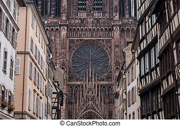 Notre Dame of Strasbourg - Closeup of the Notre Dame of...