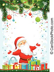 Holiday background with Santa Claus