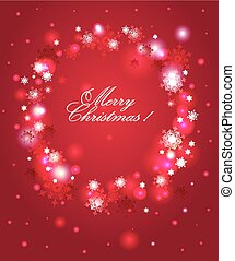 Red  holiday snow background