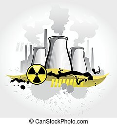 Nuclear plant abstract background