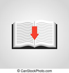electronic book education icon vector illustration design