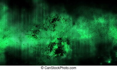 Green horror texture loop CG - Animated blue green horror...