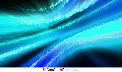 Flowing beams of energy blue loop