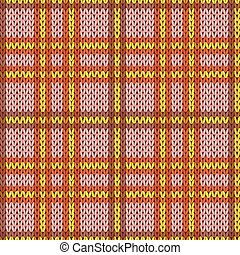 Knitting seamless pattern in warm colors - Knitting seamless...