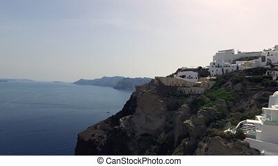 Sea, white and blue in OIA city - Greece. Beautiful...