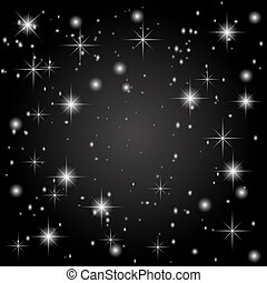 The starry sky on a black background. Abstraction. illustration