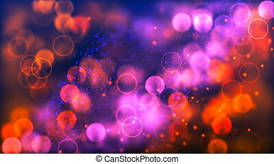 HD Loopable Background with nice purple and orange bokeh