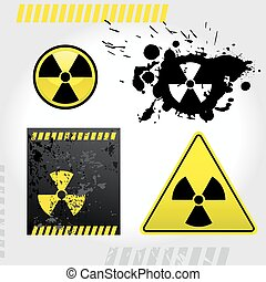 Warning radiation signs