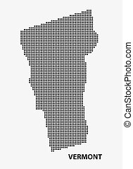 Dotted map of the State Vermont Vector illustration - Dotted...
