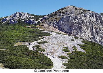 Austria, Rax Mountain - Austria, people on Rax mountain a...