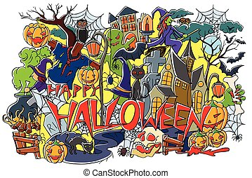 Happy Halloween holiday background