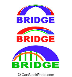 Set of Bridge Icons Isolated. Bridge Logo. - Set of Bridge...