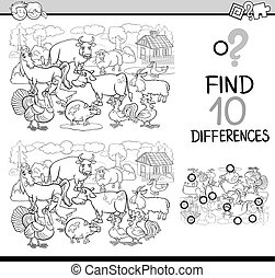 differences game coloring book