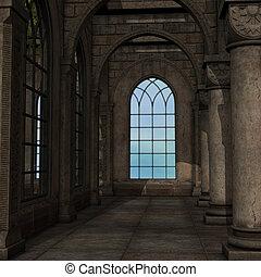 マジック, 窓, ファンタジー, 設定, 3D,...