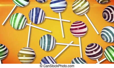 Candy on stick - Lollipops. Candy on stick with twisted...