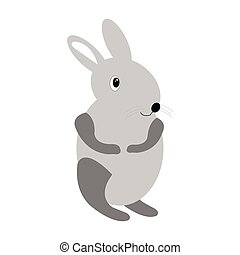 Isolated animal toy on a white background, Vector...