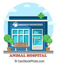 Veterinary medicine or hospital for animals - Veterinary...