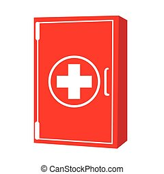First aid kit - Isolated first aid kit on a white...