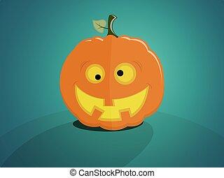 Crazy halloween pumpkin - Halloween pumpkin with a crazy...