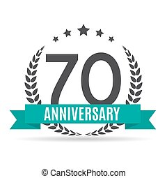 Template Logo 70 Years Anniversary Vector Illustration EPS10