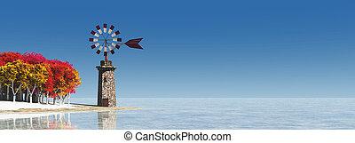 väderkvarn, traditionell,  Mallorca,  Balearic, Öar