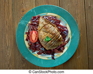Pot Roast Of Pork And Red Cabbage