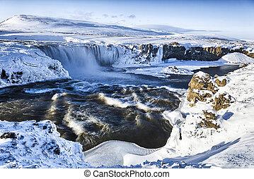 Godafoss, Iceland - Godafoss in Winter, Iceland
