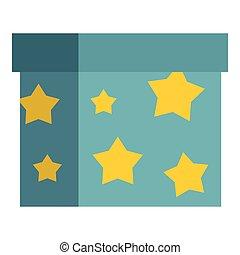 Box to perform tricks icon, flat style - Box to perform...