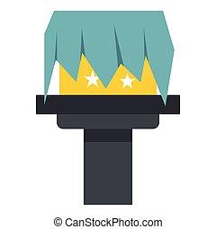 Box magic icon, flat style - Box magic icon in flat style...