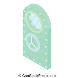 Door to safe icon, cartoon style - Door to safe icon in...