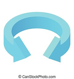 Blue arrow icon, cartoon style - Blue arrow icon in cartoon...