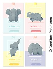 Animal banner with Elephant for web design