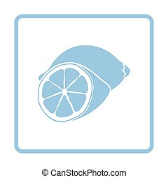 Lemon icon Blue frame design Vector illustration