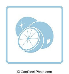 Orange icon Blue frame design Vector illustration