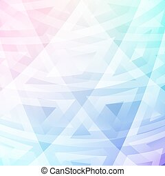 Delicate and bright colors and shapes. Geometric pattern.