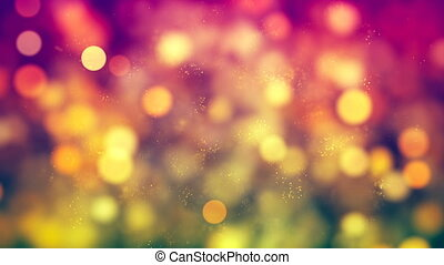 HD Loopable Background with nice yellow bokeh