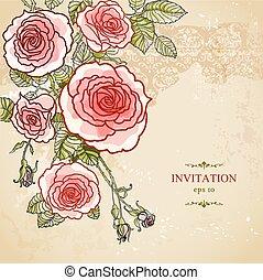 Floral invitation background