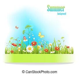 Summer positive floral background