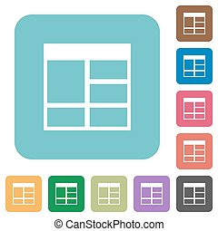 Flat Spreadsheet vertically merge table cells icons on...
