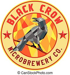 Crow Perched Microbrewery Circle Low Polygon - Low polygon...