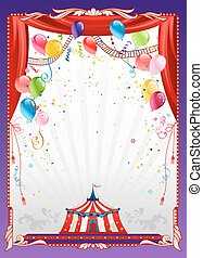Circus background with balloons